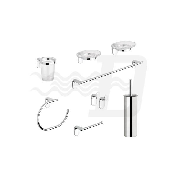 Accessori Bagno Metaform : Set accessori bagno pezzi serie zero metaform